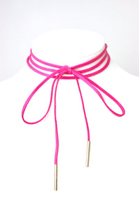 Tie Choker with Gold Tips - Babe You