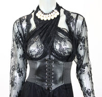 Black Long Lace Robe - Babe You