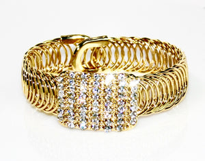 Gold Rhinestone Bracelet - Babe You