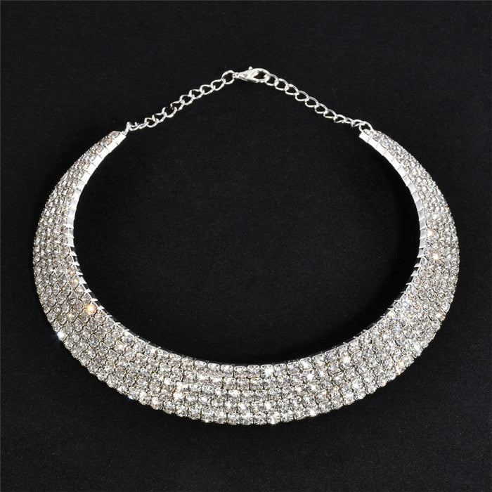 Rhinestone Crystal Necklace - Babe You