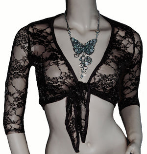 3/4 Sleeve Lace Shrug - Babe You