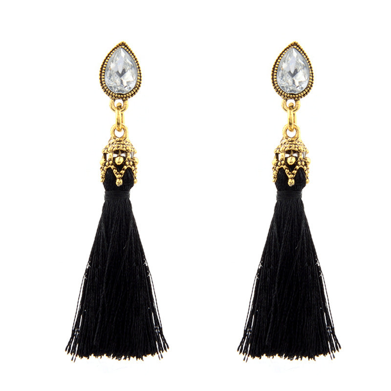 Black Tassel Earrings - Babe You