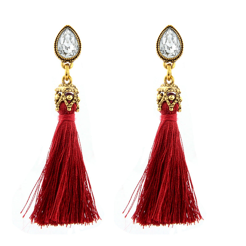 Red Tassel Earrings - Babe You
