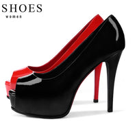 Black High Heel Shoe - Babe You