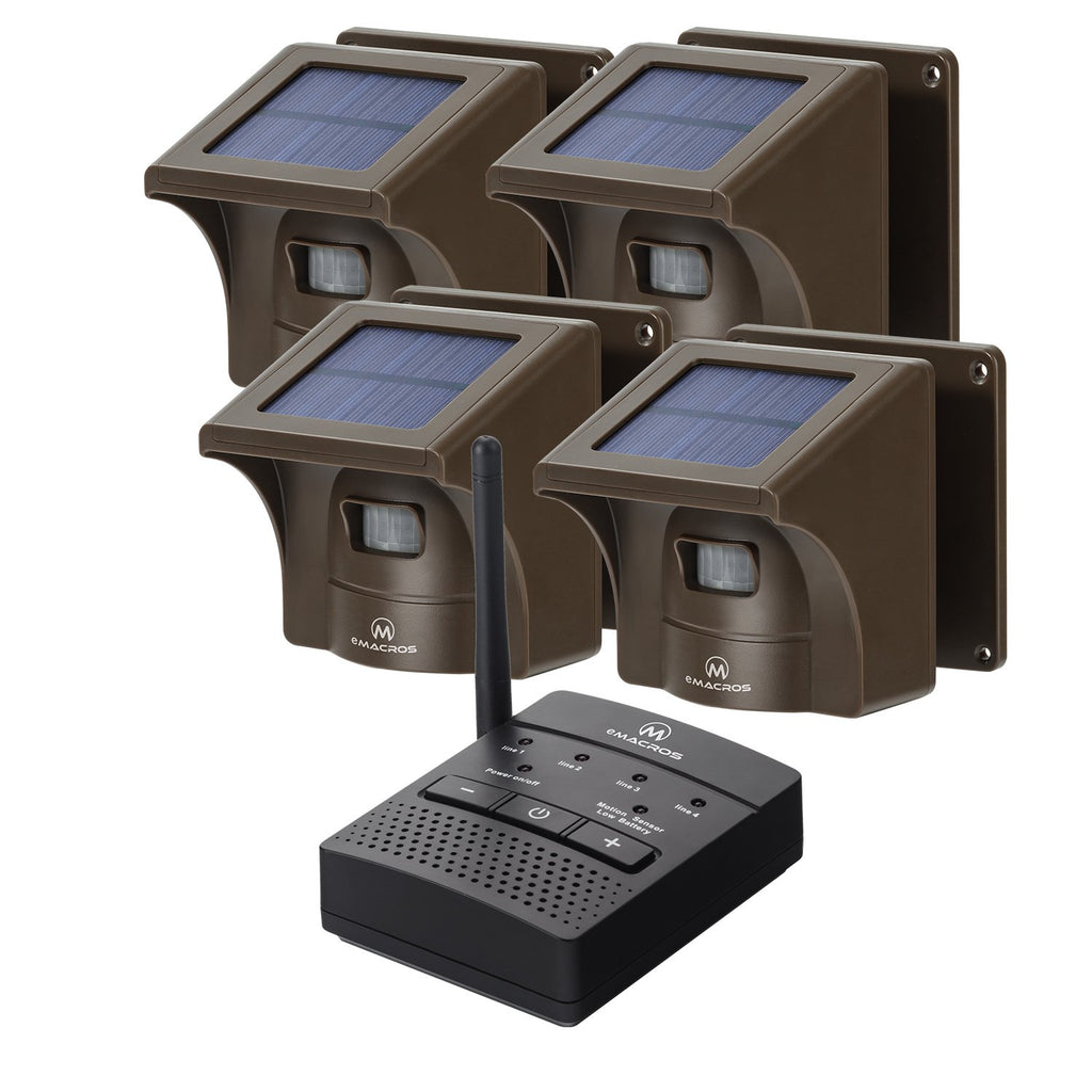 1/2 Mile Solar driveway alarms wireless outside system Solar Driveway Alarm eMACROS MC004-1004