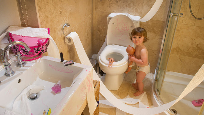 With the kids at home more than ever, I've seen a big increase in kid-related plumbing incidents, usually involving toys and other assorted items being flushed down the toilet