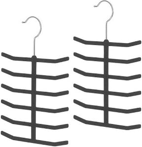 Whitmor Flocked Tie Hangers (Pack of 2) for Only $3.50 + $3 No-Rush Shipping Credit!!!