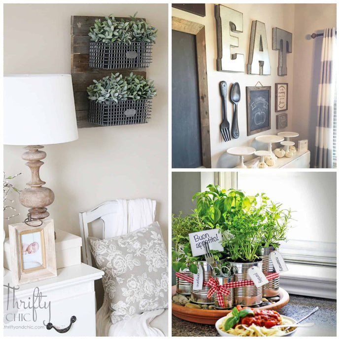 "I really really love the farmhouse look! I  think it looks cozy, warm, inviting and very much says ""family""  My idea of a perfect home has maps, chalkboards, lots of books and pictures of the family!"