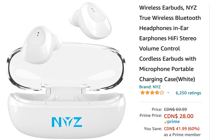 Amazon Canada Holiday Deals: Save 60% on Wireless Earbuds + 41% on Fossil Women's Smartwatch 46% on 2-Outlet Wall Mount Cradle + 35% on Barbie Portable Dollhouse + More HOT Offer