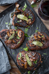 Grilled Filet Mignon with Mushroom Brown Butter Sauce is a fantastic steak recipe for a special occasion or holiday meal