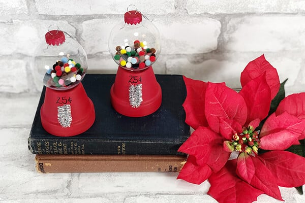 DIY Dollar Store Vintage Gumball Machine Ornament