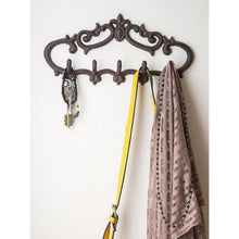 Cast Iron Wall Hanger - Vintage design with 5 hooks