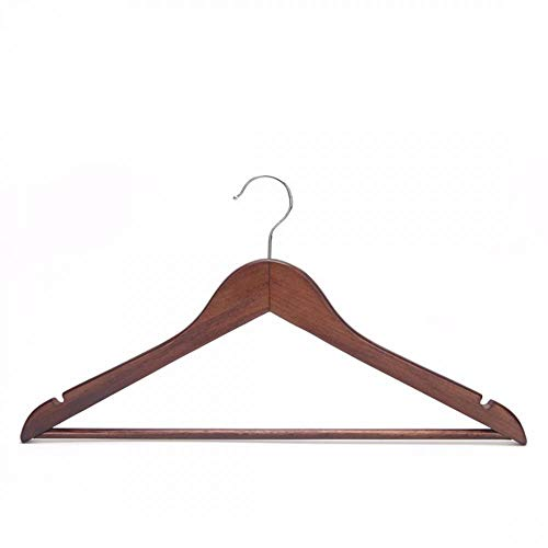 Clothes Hangers, Wooden Hangers Ultra Thin Space Saving Velvet Hangers Non-Slip Hangers Suit Hangers Ideal for Everyday Standard Use, Clothing Hangers (Brown,16 Pack)