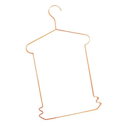 D DOLITY Non Slip Dress Skirt Hangers Trousers Hangers Clothes Coat Pants,42cm,Modern Non-Slip & Space Saving Design Excellent for Men and Women - Rose Gold