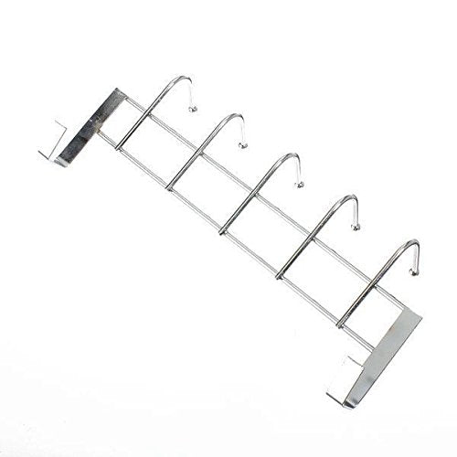 Agordo 5 Hooks Over Door Home Bathroom Kitchen Coat Towel Loop Hanger Rack Holder SheF6