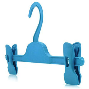 10 Blue Plastic Clip Coat Hangers 28Cm - Ideal Size For Childrens' & Smaller Adult Clothes