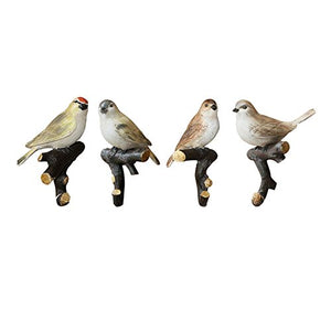 Creative Retro Bird Hooks Wall Hanger for Bag Key Clothes Bathroom Kitchen Towel Holder Wall Mount Resin Hanger Rack Decoration Wedding Gift (4 Pcs)