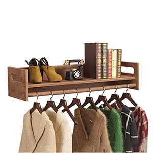 Dika UK Coat Racks Free Standing Wooden Vintage Wall Wooden Display Stand Shelf Clothes Rack Hanger for Children's Clothing Store (Size : 100cm)