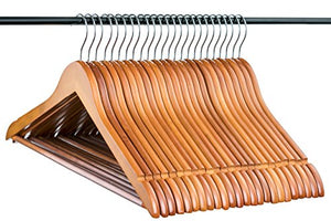 Neaties Natural and Safe Wood Hangers Cherry Finish, 24pk
