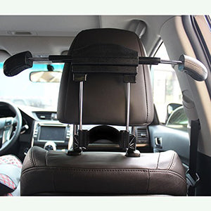 BFRed Car Seat Coat Rack Hanger Seat Chair Back Multifunction Suit Retractable Hanger (Black)