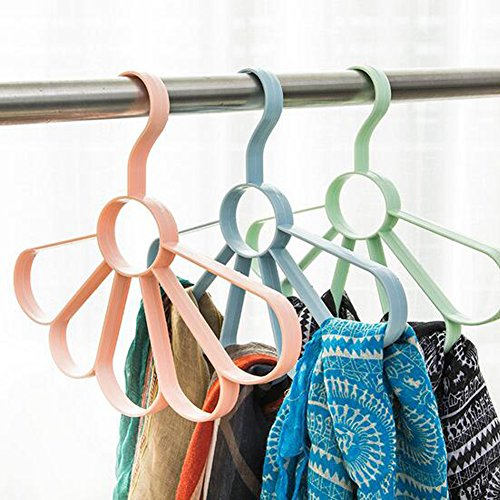 Homieco trade; Multifunction Flower Shape Belt Scarf Storage Rack Hanger Holder Ties Belts Rack