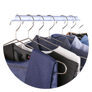45cm Stainless Steel Strong Metal Wire Hangers Coat Hanger Standard Suit Hangers Clothes Hanger (30 pcs/Lot),