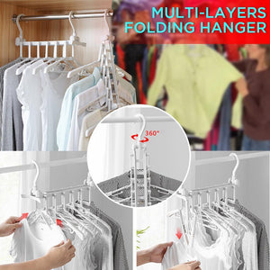 Double Hook Multi-Layers Folding Clothes Hangers