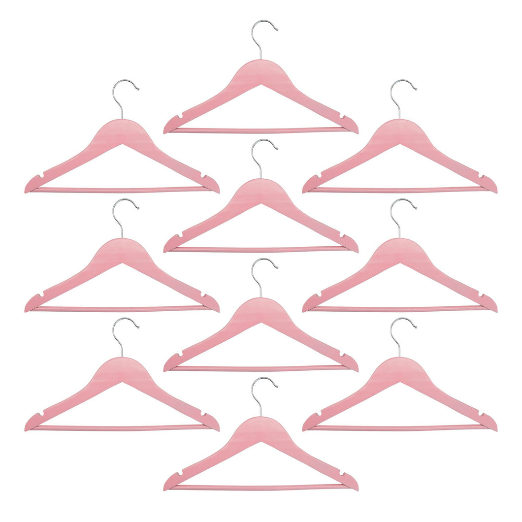 Harbour Housewares Children's Clothes Hangers - Pastel Pink - Pack of 10