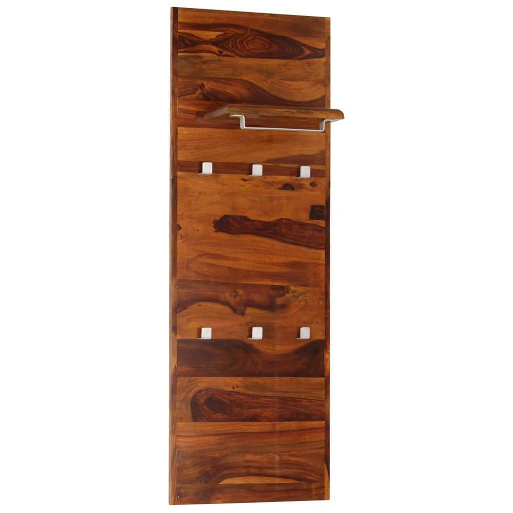 Coat Rack Solid Sheesham Wood 118x40 cm