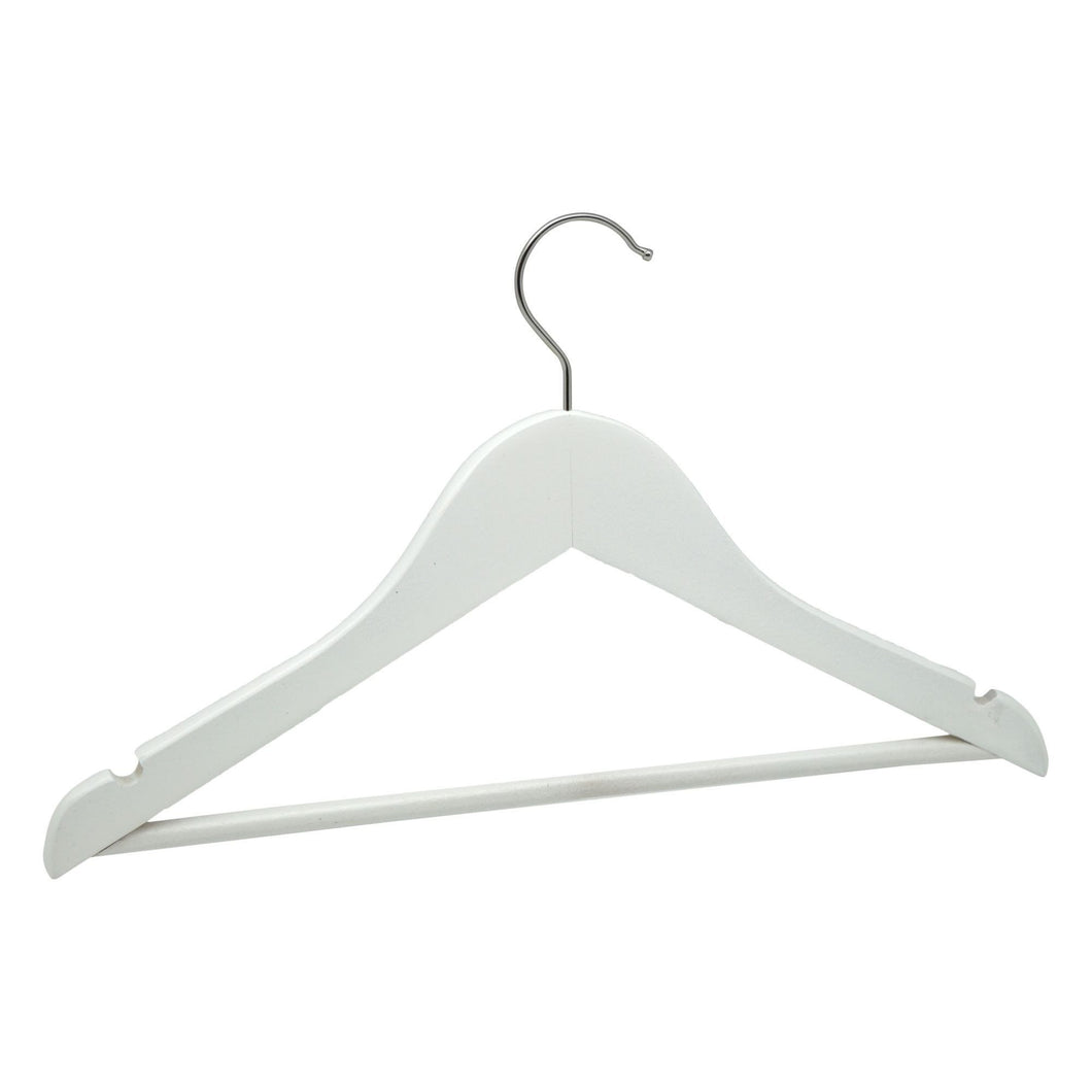 Harbour Housewares Wooden Children's Clothes Hanger - White