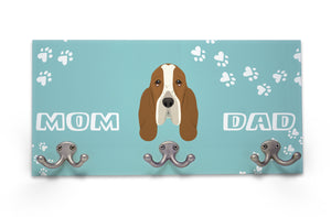 Wall Mounted Coat Rack - Basset Hound