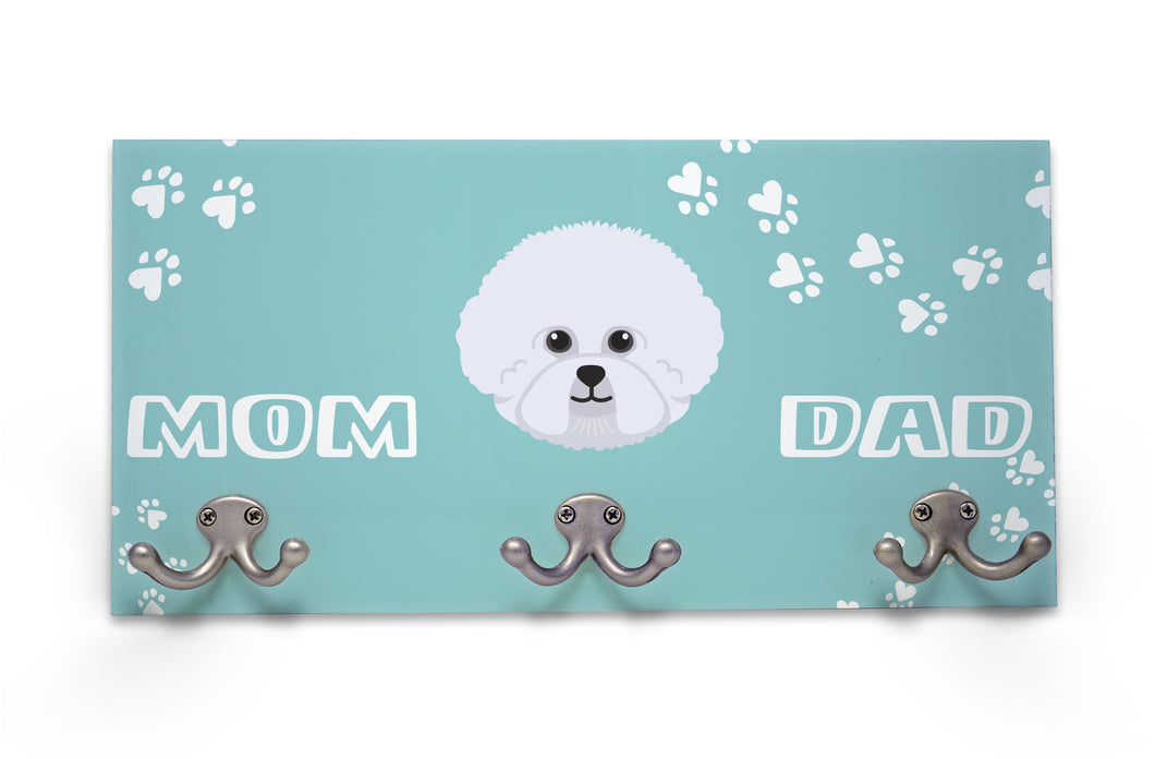 Wall Mounted Coat Rack - Bichon  Frise