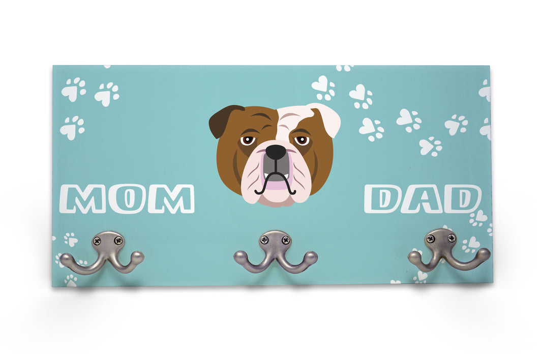 Wall Mounted Coat Rack - English Bulldog