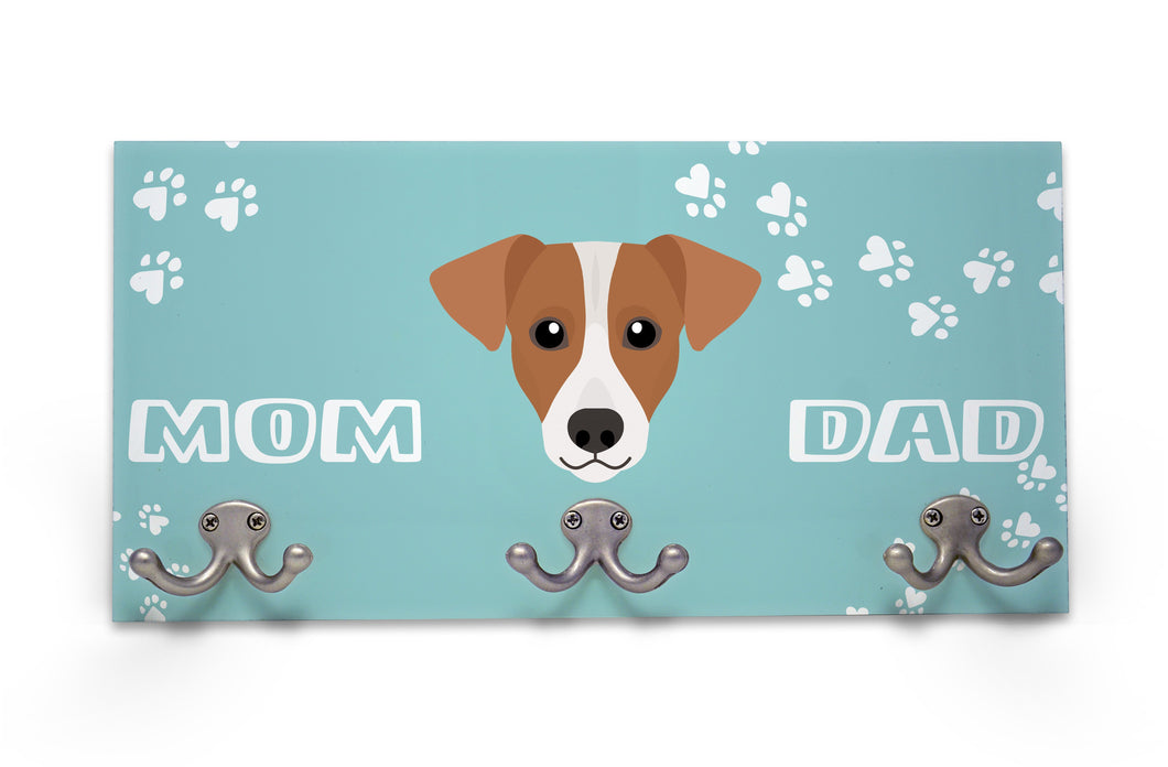 Wall Mounted Coat Rack - Jack Russell Terrier