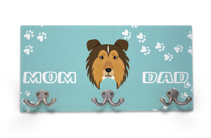 Wall Mounted Coat Rack - Rough Collie