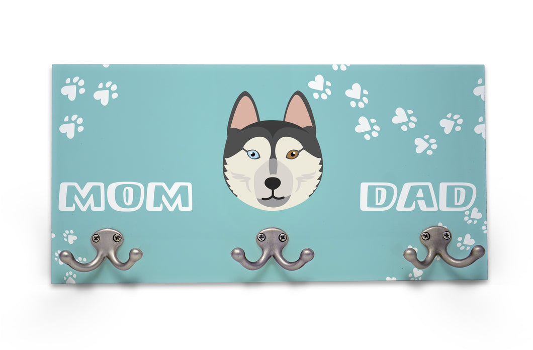 Wall Mounted Coat Rack - Siberian Husky