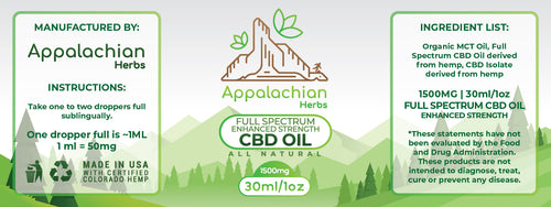 Full Spectrum CBD Tincture - CBD Oil - Enhanced Full Spectrum