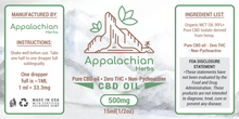 Load image into Gallery viewer, Pure CBD Tincture - CBD Oil - THC Free - Isolate