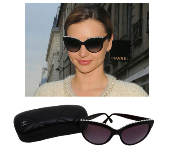44b4c210d0 Chanel Pearl Sunglasses  you do not need to say anything for someone to  know that these lenses are iconic. These beautiful frames feature a series  of pearls ...
