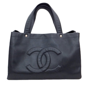 Authentic Chanel Caviar Black Jumbo GST Shopper Tote