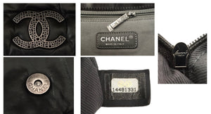 Authentic Chanel So Black Calfskin Jumbo