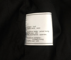Chanel Vintage Black Wool Blazer