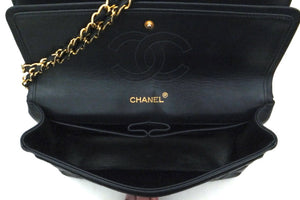 Authentic Chanel Vintage Navy Lambskin Double Flap Jumbo