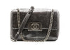 Chanel Grey Metallic Python Shanghai Bag