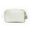 Chanel Vintage White Ostrich Camera Bag