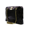 Chanel Vintage Black Crocodile Rare Camera Jumbo Maxi Bag