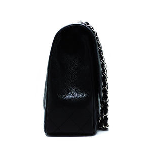 Chanel Black Caviar Single Flap Jumbo