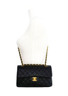 "Chanel Vintage Black Caviar Small Classic 2.55 9"" Flap Bag"
