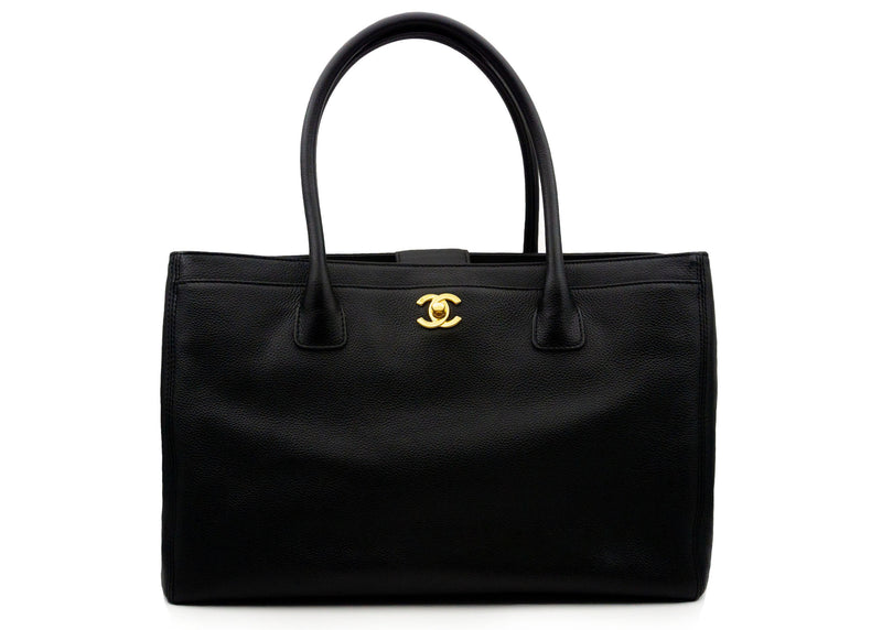 Chanel Black Executive Cerf Tote