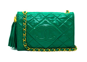 Chanel Vintage Evergreen Lambskin Mini Flap Bag